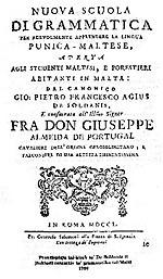 Il-grammatika ta' De Soldanis (1750)