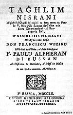 Tagħlim Nisrani ta' Wizzino (1780)