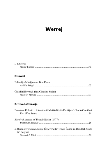 Werrej Il-Malti XC (2017) 11